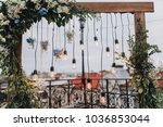 arch for wedding ceremony is... | Shutterstock . vector #1036853044