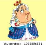 the comic caricature. cartoon.... | Shutterstock . vector #1036856851