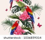 beautiful seamless vector...   Shutterstock .eps vector #1036859314