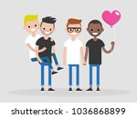 a group of gay friends. young... | Shutterstock .eps vector #1036868899