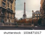 eiffel tower in paris | Shutterstock . vector #1036871017