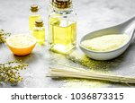 bodycare cosmetic set with oils ... | Shutterstock . vector #1036873315