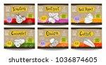 set colorful food labels ... | Shutterstock .eps vector #1036874605