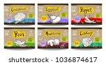 set colorful food labels ...   Shutterstock .eps vector #1036874617