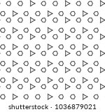 seamless vector pattern in... | Shutterstock .eps vector #1036879021