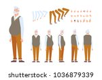elderly man character creation... | Shutterstock .eps vector #1036879339