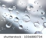 molecule or atom  abstract...   Shutterstock . vector #1036880734