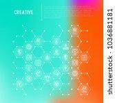 creative concept in honeycombs... | Shutterstock .eps vector #1036881181
