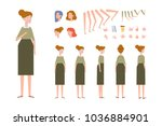 elderly woman character... | Shutterstock .eps vector #1036884901