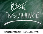 insurance  risk  crossed out... | Shutterstock . vector #103688795