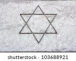 star of david sketch on a... | Shutterstock . vector #103688921