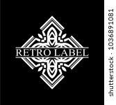 vintage ornamental retro label. ... | Shutterstock .eps vector #1036891081