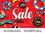sale banner layout design   Shutterstock .eps vector #1036891261