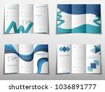 blue fold set technology annual ... | Shutterstock .eps vector #1036891777