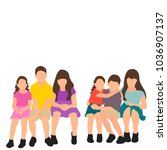 vector flat style children...   Shutterstock .eps vector #1036907137