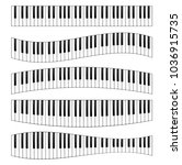 piano keyboard image set.... | Shutterstock .eps vector #1036915735
