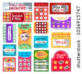 scratch card set. cards with a... | Shutterstock .eps vector #1036915747