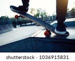 skateboarder legs skateboarding ... | Shutterstock . vector #1036915831
