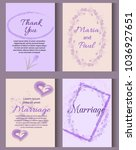 wedding invitation card suite... | Shutterstock .eps vector #1036927651