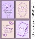 wedding invitation card suite...   Shutterstock .eps vector #1036927651