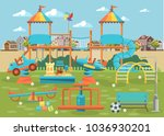 play ground vector... | Shutterstock .eps vector #1036930201