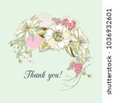 vintage card thank you with a... | Shutterstock .eps vector #1036932601