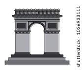 arch of triumph | Shutterstock .eps vector #1036933111