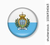 san marino flag round badge or... | Shutterstock .eps vector #1036934065