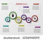 gears infographics  a template... | Shutterstock .eps vector #1036940095