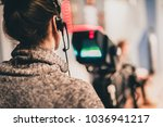 behind the scene. female... | Shutterstock . vector #1036941217