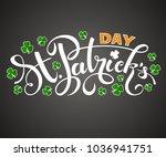 vector illustration of a happy... | Shutterstock .eps vector #1036941751