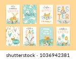 happy easter. vector templates... | Shutterstock .eps vector #1036942381