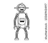 funny robot cartoon | Shutterstock .eps vector #1036943497