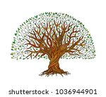 big tree with roots for your... | Shutterstock .eps vector #1036944901
