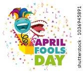 april fools day card | Shutterstock .eps vector #1036945891