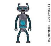 funny robot cartoon   Shutterstock .eps vector #1036946161