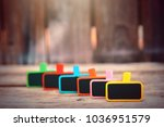 colorful wood clip notes on... | Shutterstock . vector #1036951579