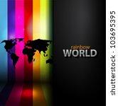 vector rainbow background with... | Shutterstock .eps vector #103695395
