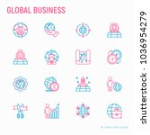 global business thin line icons ... | Shutterstock .eps vector #1036954279