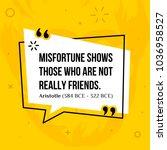 vector quotation. misfortune... | Shutterstock .eps vector #1036958527