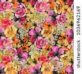 beautiful floral seamless... | Shutterstock . vector #1036962169