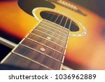 Close Up Of Acoustic Guitar ...