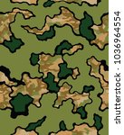 fashionable camouflage pattern  ... | Shutterstock .eps vector #1036964554