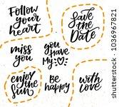 lovely hand lettering phrases   ... | Shutterstock .eps vector #1036967821