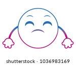 degraded line disappoint emoji... | Shutterstock .eps vector #1036983169