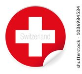switzerland flag label sticker | Shutterstock .eps vector #1036984534