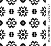 black floral ornament on white... | Shutterstock .eps vector #1036987927