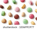 pattern of colorful french... | Shutterstock . vector #1036991977