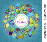 colorful vector of easter... | Shutterstock .eps vector #1036993501