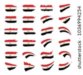 egypt flag  vector illustration | Shutterstock .eps vector #1036994254